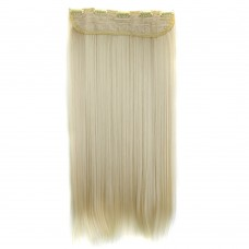 "24"" 120g #613 One Piece 5 Clips Straight Synthetic Clip in Hair"
