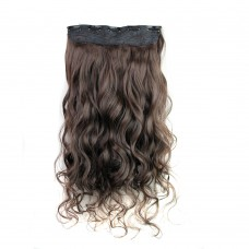"24"" 120g #4 One Piece 5 Clips Curly Synthetic Clip in Hair"