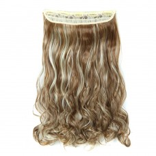 "24"" 120g #6H613 One Piece 5 Clips Curly Synthetic Clip in Hair"