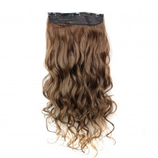 "24"" 120g #2M30 One Piece 5 Clips Curly Synthetic Clip in Hair"