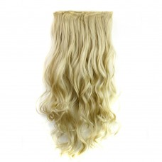 "24"" 120g #24M613 One Piece 5 Clips Curly Synthetic Clip in Hair"