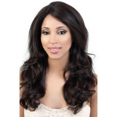 Natural Color Indian Remy Hair Natural Wavy Front Lace Wigs PWFU53