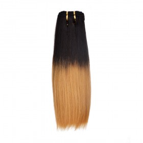 12 Inch Light Yaki Brazilian Remy Hair #1B/27