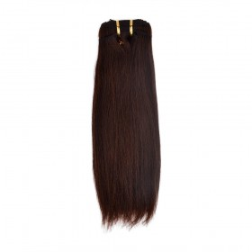 12 Inch Light Yaki Brazilian Remy Hair #4 Chocolate Brown