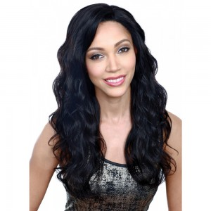 28 Inch #2 Indian Remy Hair Body Wavy Front Lace Wigs PWFU13