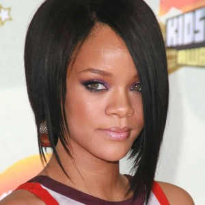 Rihanna Short Straight Full Lace Human Hair Wig CW164