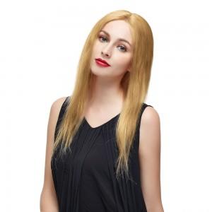"""Peluca de encaje 18 """"# 27 Strawberry Blonde Brazilian Straight Straight Lace"""