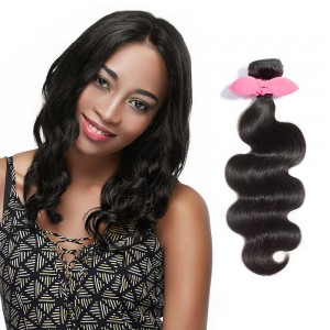 USA Stock 10 Inch - 30 Inch Virgin Brazilian Remy Hair Weft Body Wavy Natural Black 100g