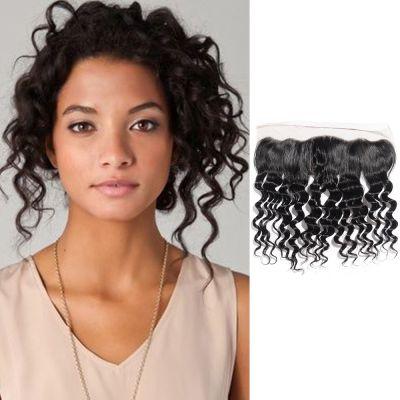 8-20 Inch Virgin Brazilian Hair Loose Wavy 13*4 Free Part Lace Top Closure