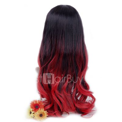 Newest Two Tone Ombre Hair Weave #1B/Red Body Wavy 100g