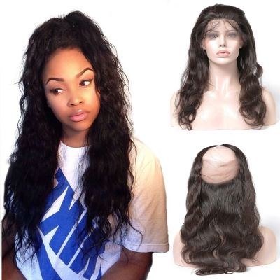 Pre Plucked 360 Lace Frontal 22*4*2  Body Wavy 6A Brazilian Virgin Hair