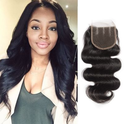 10-20 Inch Virgin Brazilian Hair Body Wavy 4*4 Three Part Lace Top Closure