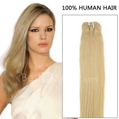 100g Straight Brazilian Remy Hair #24 Sandy Blonde