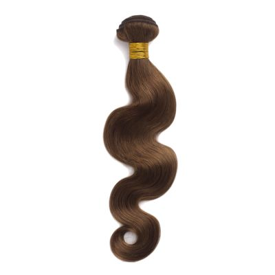 100g Body Wavy Brazilian Remy Hair #8 Light Brown