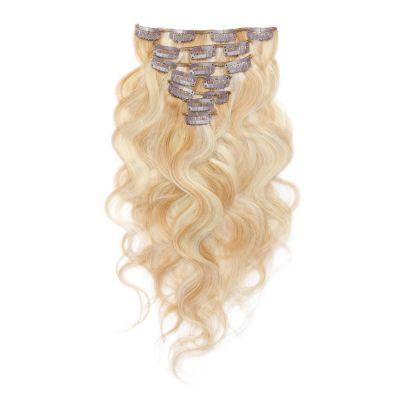 70g 16 Inch #27/613 Body Wavy Clip In Hair