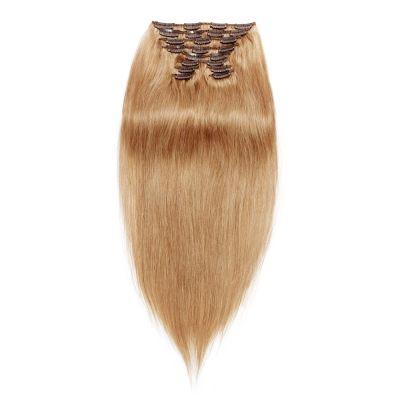 120g 18 Inch #27 Strawberry Blonde Straight Clip In Hair