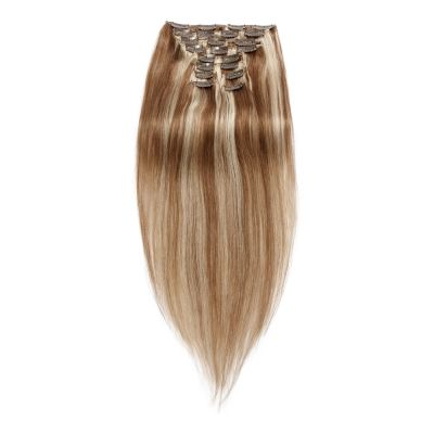 120g 18 Inch #8/613 Straight Clip In Hair
