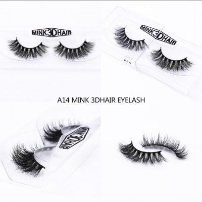 1Pair Luxury 3D Mink Fur False Eyelashes Extensions A14