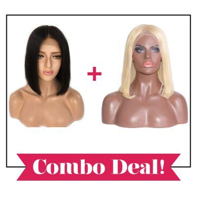 Bob Goals! Natural & Blonde Straight Bobs Combo Deal!