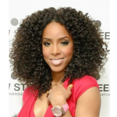 """16"""" #2 Darkest Brown Indian Remy Deep Curly Full lace Wig PWFL18"""