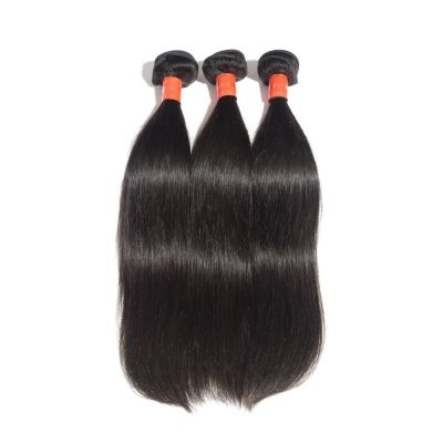 "10""-30"" 3 Bundles Straight Virgin Malaysian Hair Natural Black 300g"