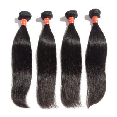 """10""""-30"""" 4 Bundles Straight Virgin Malaysian Hair Natural Black 400g"""