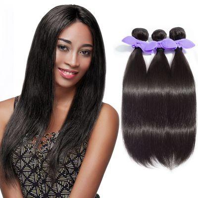 3 Bundles Straight 8A Malaysian Virgin Hair Natural Black 300g
