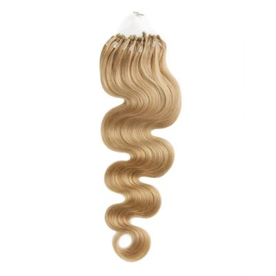 100s 1g/s Body Wavy Micro Loop Hair Extensions #27 Strawberry Blonde