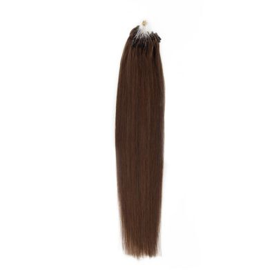 100s 0.5g/s Straight Micro Loop Hair Extensions #4 Chocolate Brown