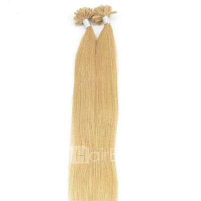 100s 0.5g/s Straight Nail/U Tip Remy Hair Extensions #27 Strawberry Blonde