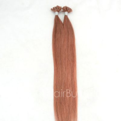 100s 1g/s Straight Nail/U Tip Remy Hair Extensions #30 Auburn