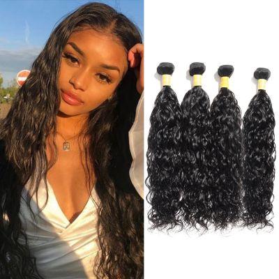 USA Stock Virgin Indian Hair Natural Wavy 4 Bundles