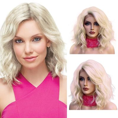 Lace Front Synthetic Hair Wig PWS445 Natural Wavy