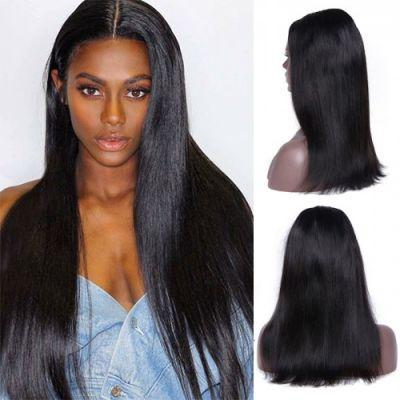 20 Inch #1B Straight Indian Remy Hair U part Wigs PWU15