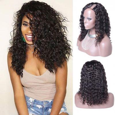 18 Inch Deep Wavy Indian Remy Hair U part Wigs PWU18