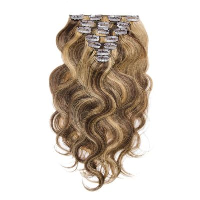 100g 18 Inch #4/27 Body Wavy Clip In Hair