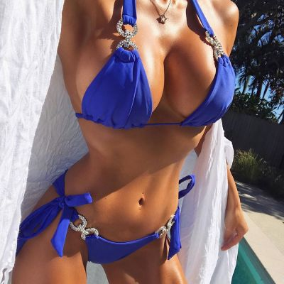 Sexy String Bikini Set SW1001 - Royal Blue L