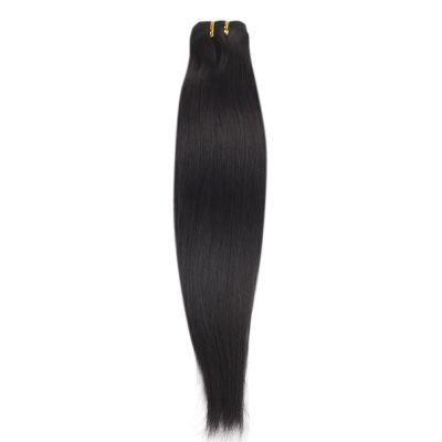 100g Straight Brazilian Remy Hair #1B Natural Black