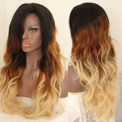 Lace Front Synthetic Hair Wig PWS429 Natural Wavy