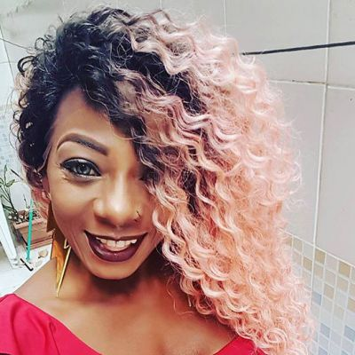 Lace Front Synthetic Hair Wig PWS437 Kinky Curly