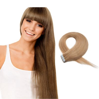 20pcs 50g Straight Tape In Hair Extensions #27 Strawberry Blonde