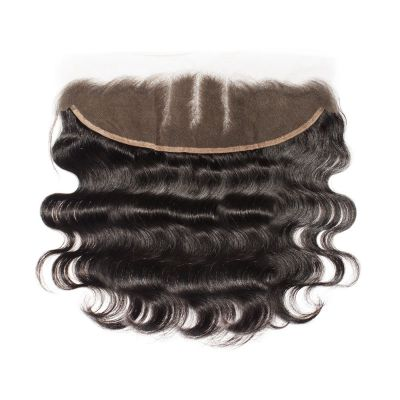 Virgin Brazilian Hair Body Wavy Hand Tied 13*4 Three Part Lace Frontal Closure