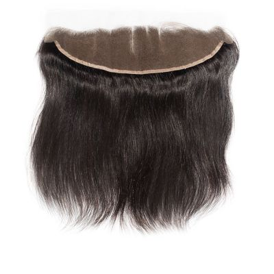 Virgin Brazilian Hair Straight Hand Tied 13*4 Three Part Lace Frontal Closure