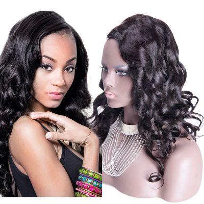 26 Inch #1B Body Wavy Indian Remy Hair U part Wigs PWU24