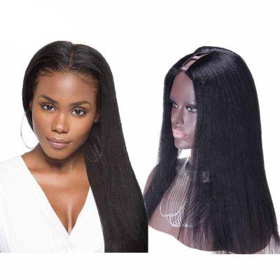 26 Inch #1B Yaki Indian Remy Hair U part Wigs PWU29