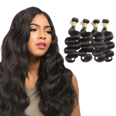 USA Stock Virgin Indian Hair Body Wavy 4 Bundles